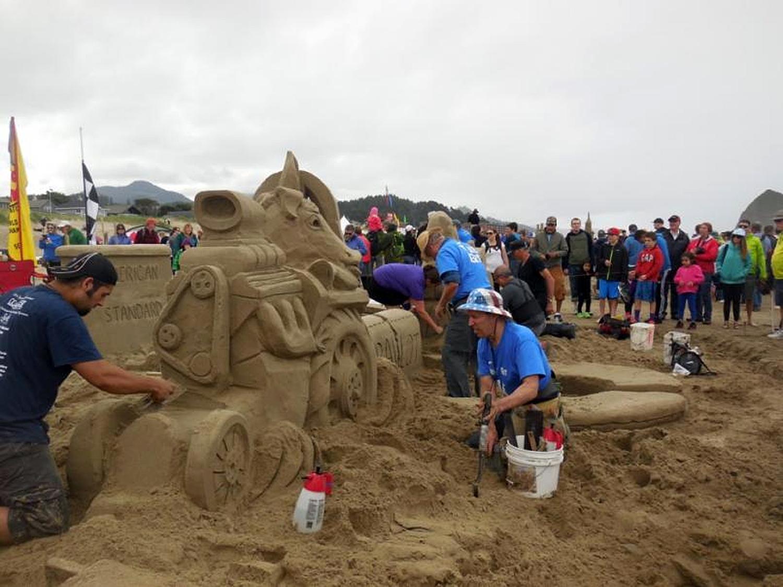 Cannon Beach Sandcastle Contest True Grit Master 1st Place 2016