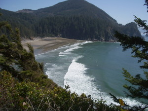 Owald State Park viewpoint, just south of Cannon Beach.